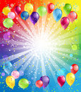 Festive background with balloons with space for text Stock Image