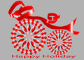 Festive background with optical illusion Stock Photography