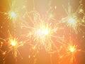 Festive background sparkler light on the red background Stock Images