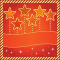 Festive background with stars and space for text Stock Photo
