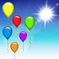 Festive balloons Royalty Free Stock Photography