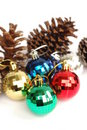 Festive baubles Royalty Free Stock Image