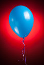 Festive blue balloon Stock Images