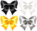 Festive bows black and gold vector illustration collection of eps rgb created with gradient mesh Royalty Free Stock Images