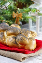 Festive bread dish and decoration Stock Image