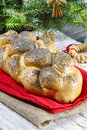 Festive bread dish and decoration Stock Photography