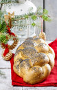 Festive bread dish and decoration Royalty Free Stock Photos