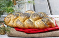 Festive bread dish and decoration Royalty Free Stock Image