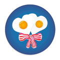 Festive breakfast with eggs bacon Royalty Free Stock Photography