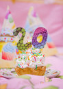 Festive cake with cream to the anniversary Royalty Free Stock Image