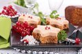 Festive canape close up on Royalty Free Stock Photos