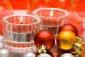Festive candles Stock Images