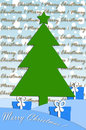 Festive card design with christmas tree Royalty Free Stock Images