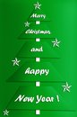 Festive card design with modern christmas tree Stock Images