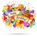 Festive Celebration Happy Birthday background. Royalty Free Stock Photo