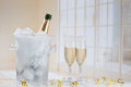 Festive champagne
