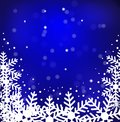 Festive christmas background with snowflakes illustration Stock Image