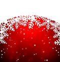 Festive christmas background with snowflakes illustration Royalty Free Stock Photos