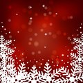 Festive christmas background with snowflakes illustration Royalty Free Stock Photo