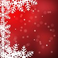 Festive christmas background with snowflakes illustration Royalty Free Stock Image