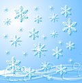 Festive christmas background with snowflakes illustration Royalty Free Stock Photography