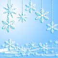 Festive christmas background with snowflakes illustration Stock Photos