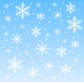 Festive christmas background with snowflakes illustration Stock Photo