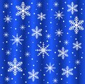 Festive christmas background with snowflakes illustration Stock Images
