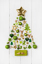 Festive christmas decoration in light green, white and golden co Royalty Free Stock Photo