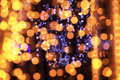 Festive christmas defocused lights abstract background Stock Photo
