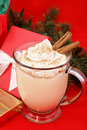 Festive Christmas Eggnog Royalty Free Stock Images