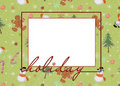 Festive Christmas frame Stock Photo