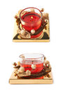 Festive Christmas gel candle isolated Royalty Free Stock Photo