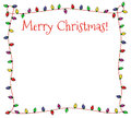 Festive christmas lights frame colorful of multicolored Stock Photo