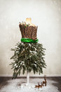 Festive Christmas Mannequin Royalty Free Stock Photo
