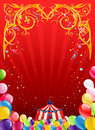 Festive circus background with space for text Stock Photos