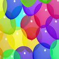 Festive Colorful Balloons In The Sky For Birthday Stock Images