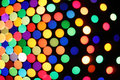 Festive colorful soft focus background polka dot perspective view Royalty Free Stock Photos