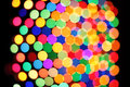 Festive colorful soft focus background polka dot perspective view Stock Images