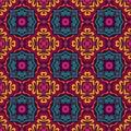 Vector Seamless Tribal geometric gypsy Pattern