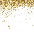 Festive confetti glittering gold falling Royalty Free Stock Photo
