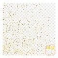 Festive explosion of confetti. Gold glitter background. Royalty Free Stock Photo