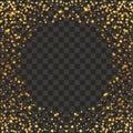 Festive explosion of confetti. Gold glitter background. Golden dots. Vector illustration polka dot . Royalty Free Stock Photo