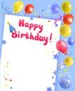 Festive frame with happy birthday Royalty Free Stock Photo