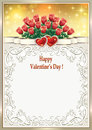 Festive frame on Valentine`s Day