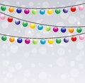 Festive garland background for a design illustration Royalty Free Stock Image