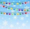 Festive garland background for a design illustration Stock Photos
