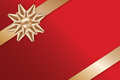 Festive Golden Bow on red background Royalty Free Stock Photos