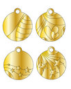 Festive golden tags Stock Images