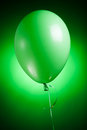 Festive green balloon Stock Photography